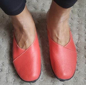 Socofy red leather mules sz 42 used
